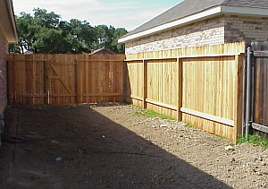 A picture of the completed fence.