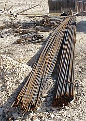 Rebar delivered - used for reinforcing concrete.